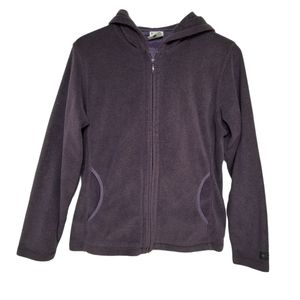 Columbia Purple Fleece Full Zip Hoodie M